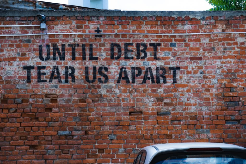 until debt tear us apart brick wall how to make a budget