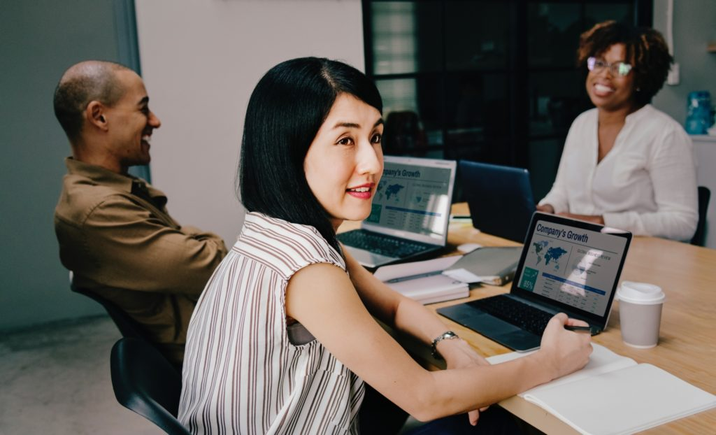 female worker at computer medical majors