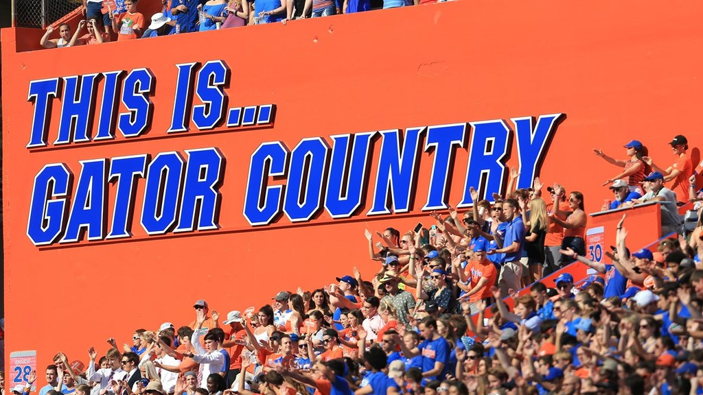 uf game day traditions this is gator country sign