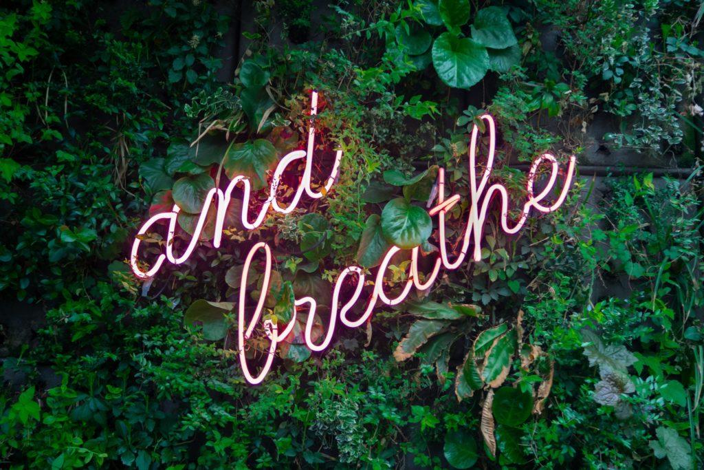 Breathe sign