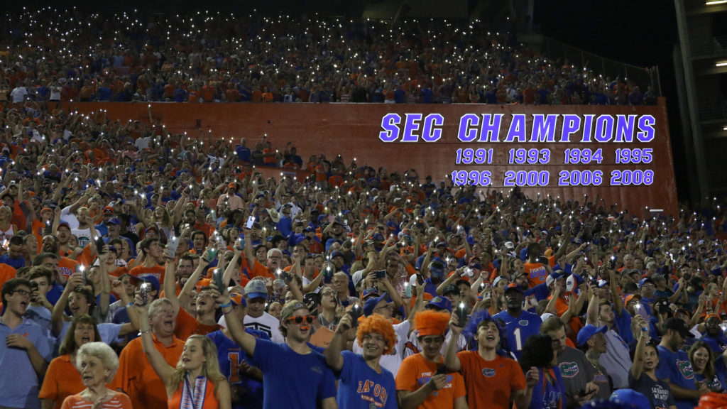 uf game day traditions sec champions board