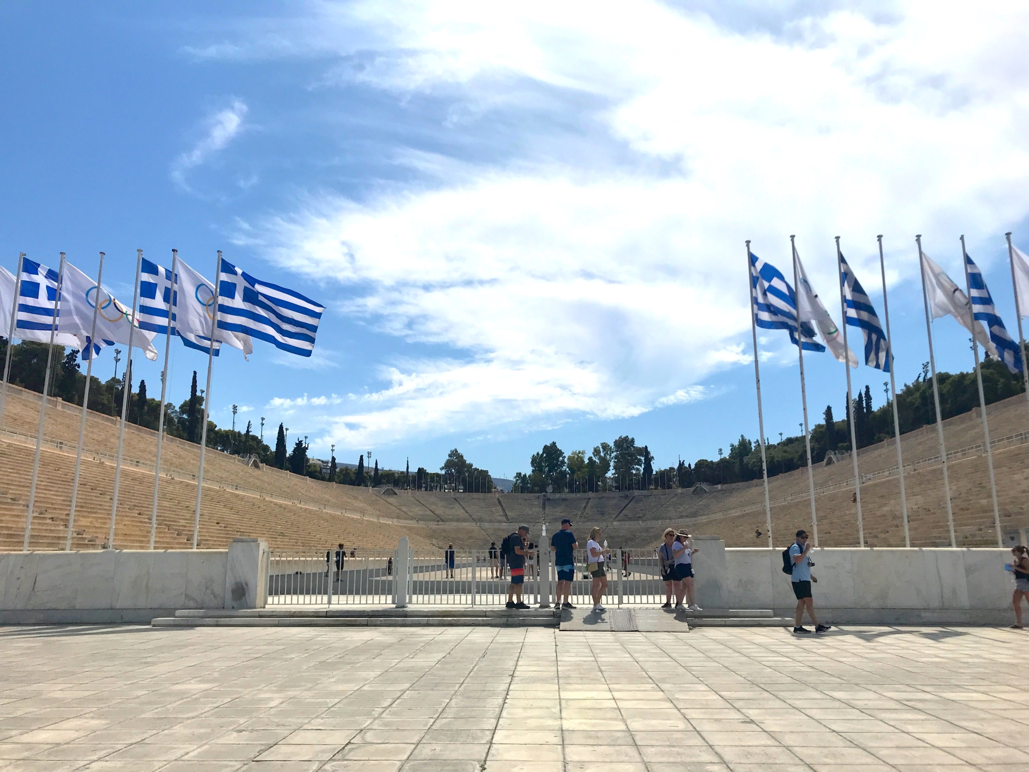 Panathenaic Stadium athens by bike tour
