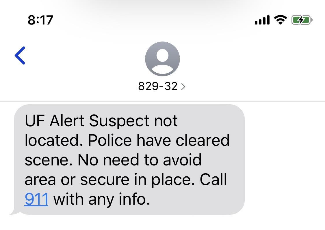 ufpd text alert