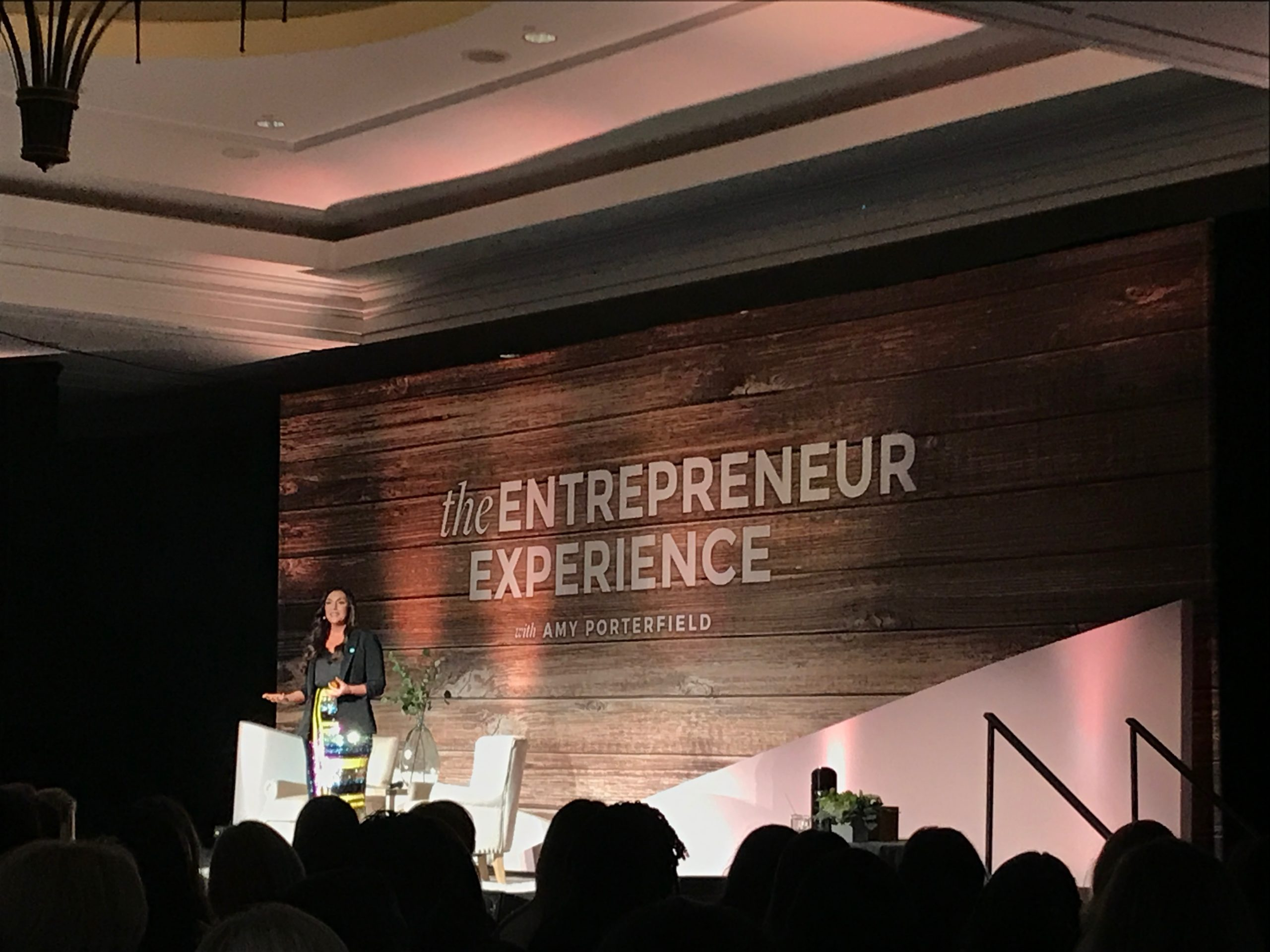 Amy Porterfield takes the stage at her Entrepreneur Experience