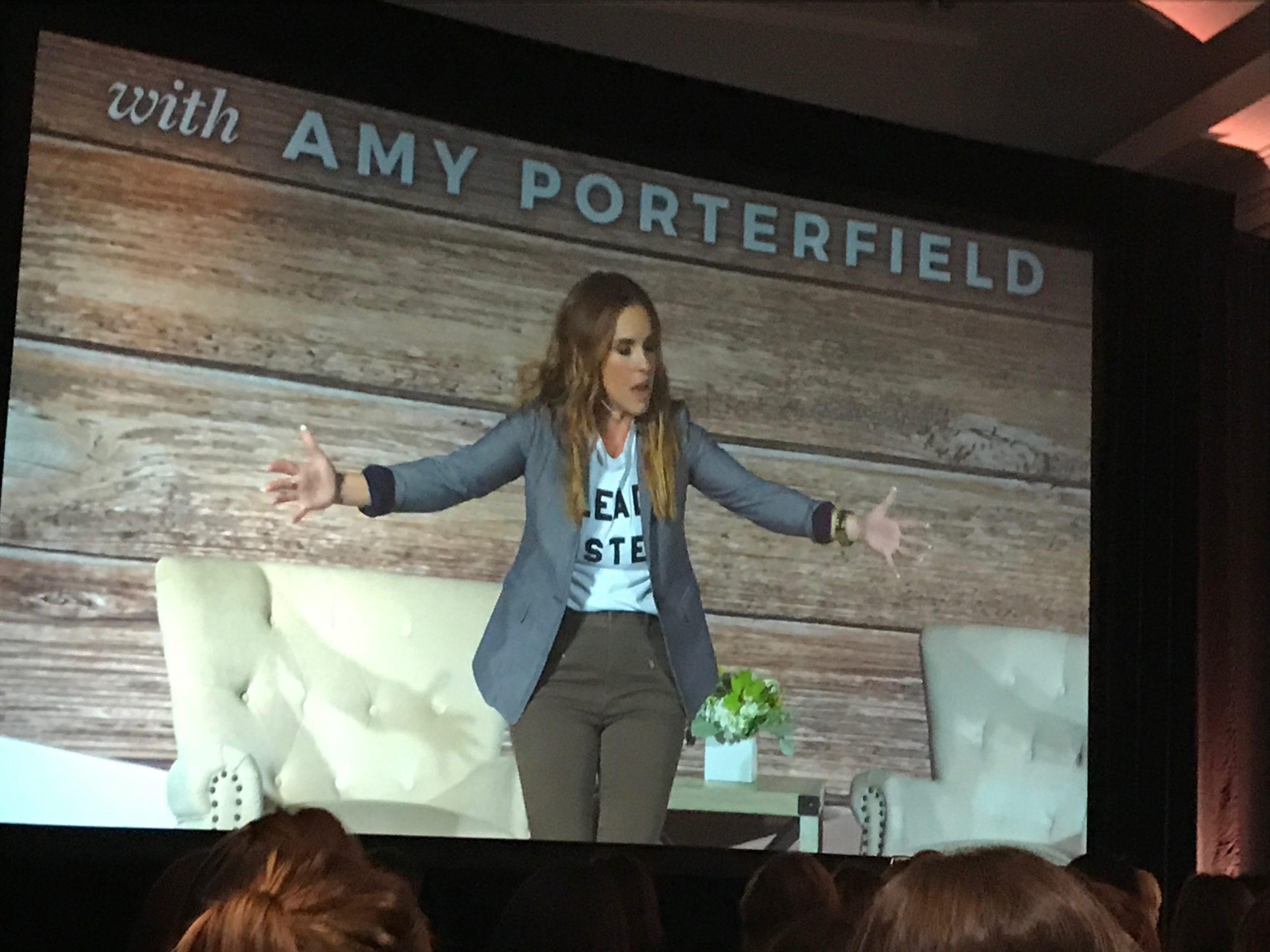 Rachel Hollis at the Amy Porterfield Entrepreneur Experience