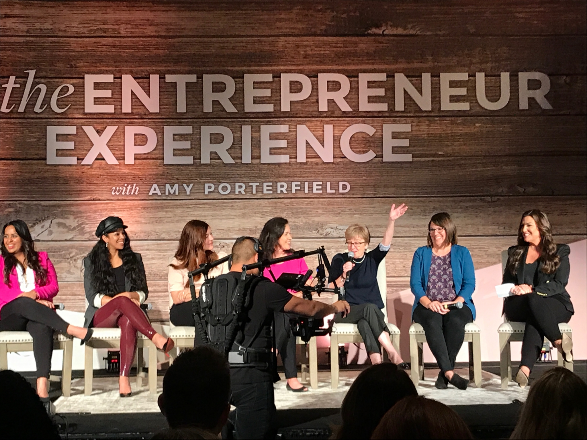 Panel discussion at the Amy Porterfield Entrepreneur Experience