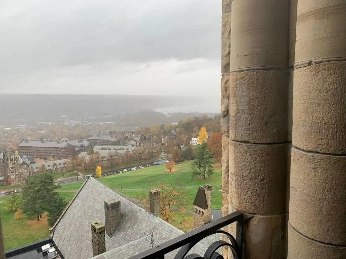 The view at the top of McGraw Tower