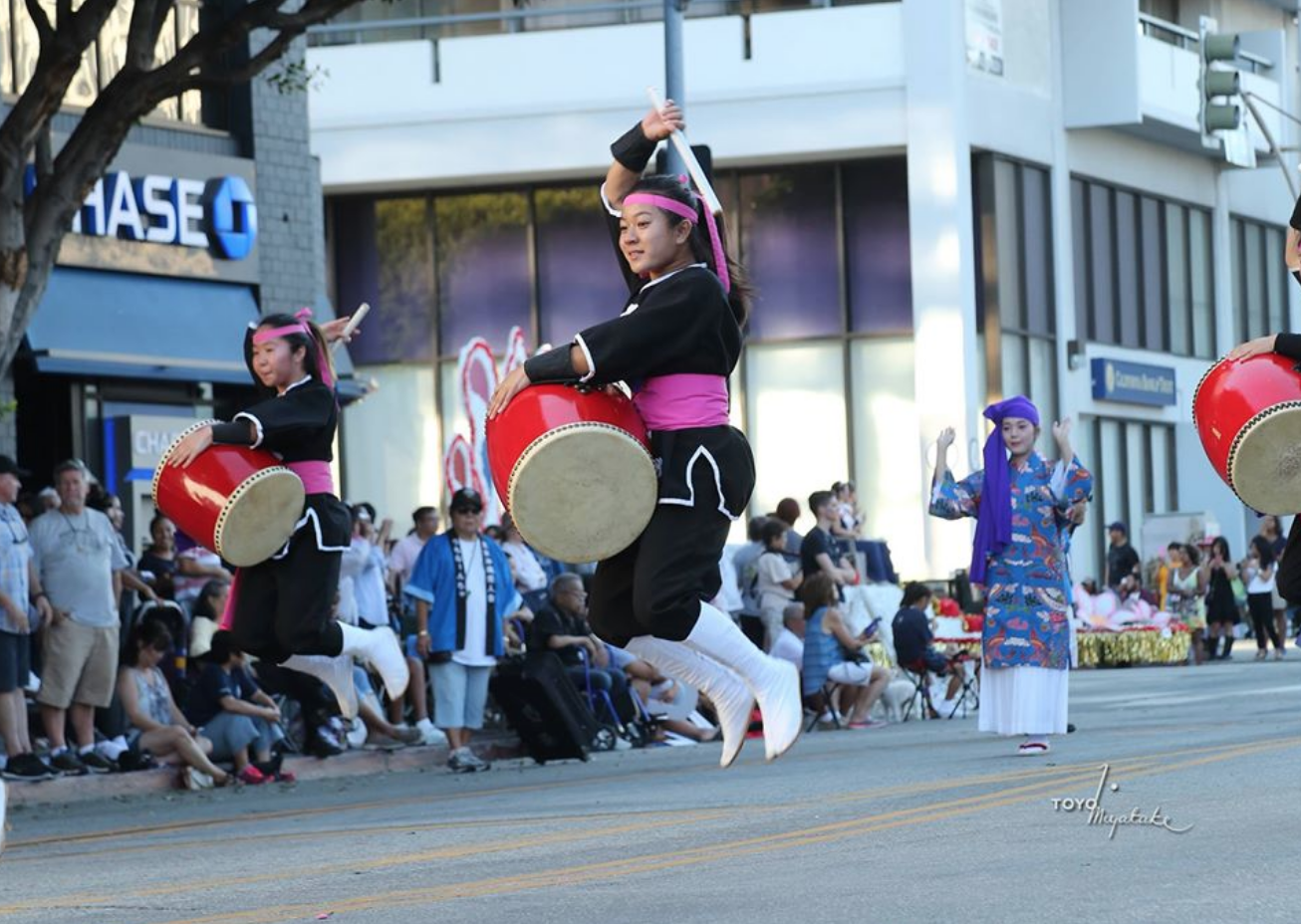 A group of traditional Japanese drummers perform at the Nisei festival.