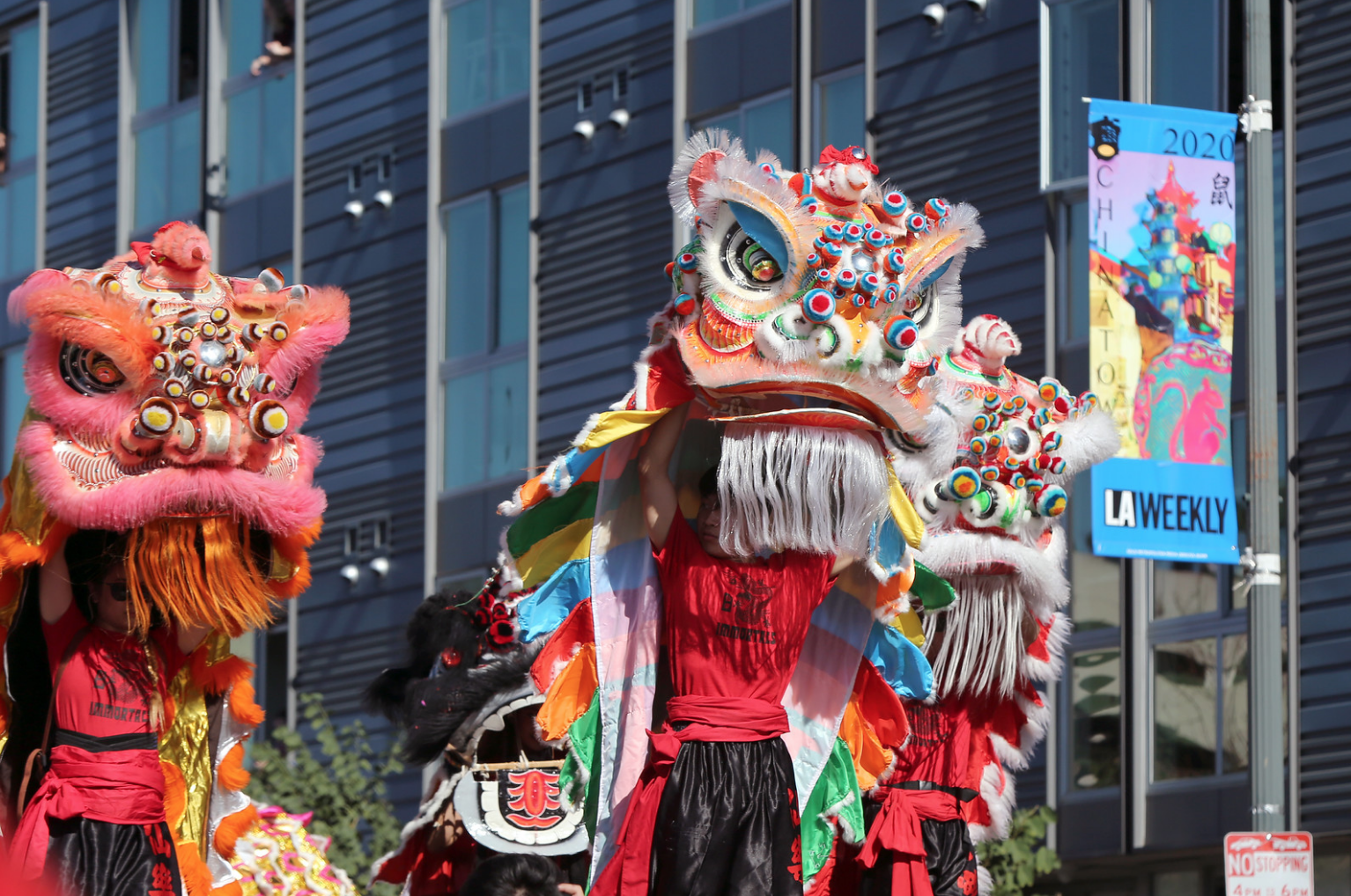 A group of dragon dancers perform a traditional Chinese dance at the Dragon Parade.