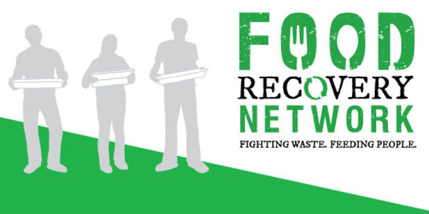 The Next Course Food Recovery logo features illustrations of students completing food recoveries.
