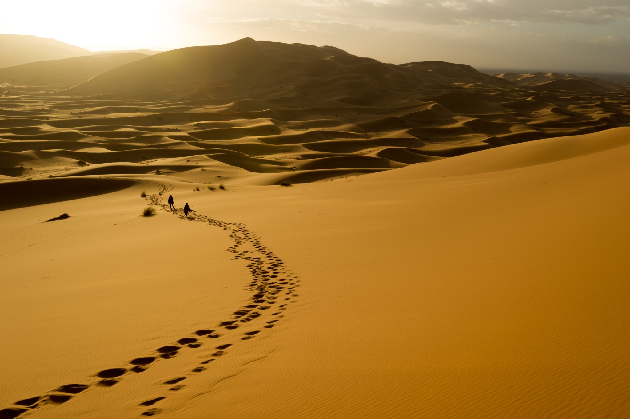 photo of the sand dunes of Meknes, Morocco