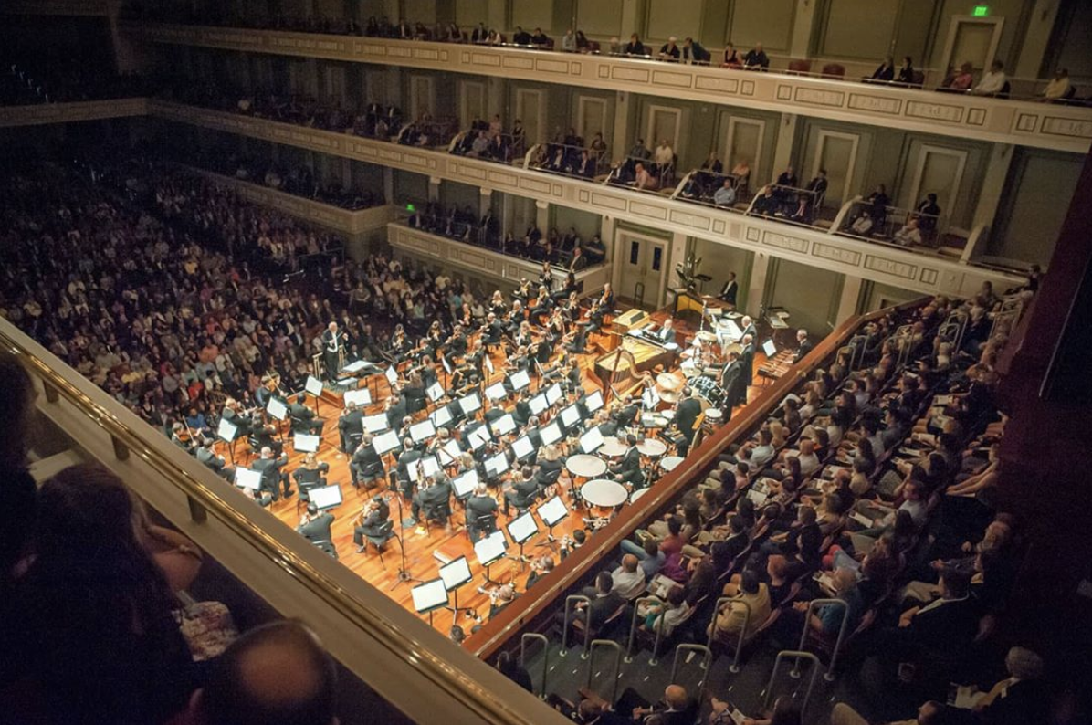 the Nashville Symphony playing at the Schermerhorn Symphony Center