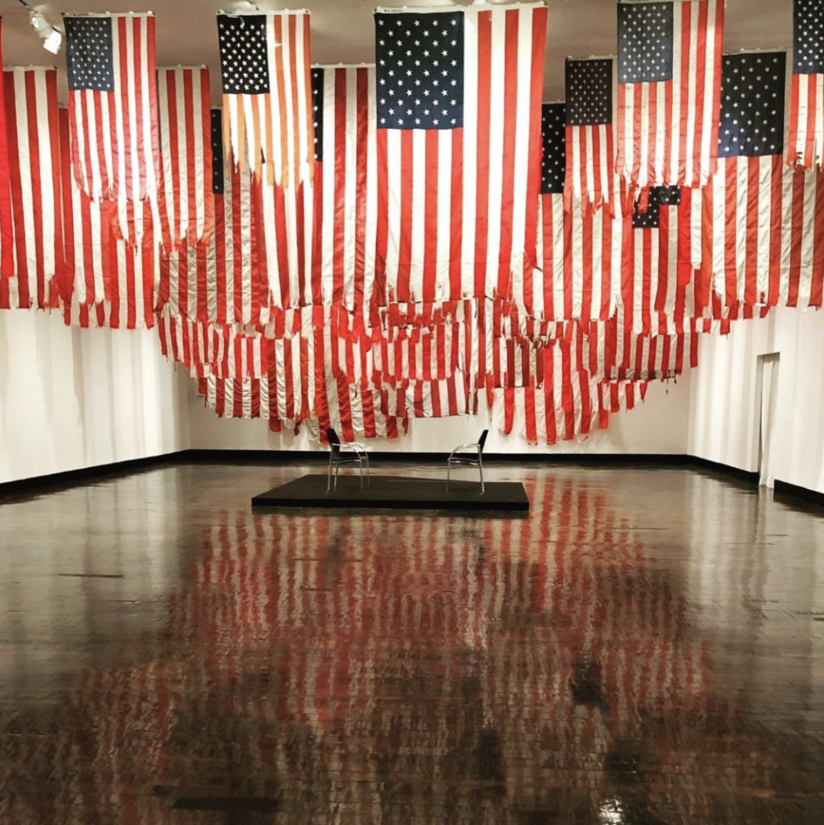 Mel Ziegler's Flag Exchange exhibit