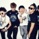 boy group BigBang poses for a photoshoot to promote their Alive album