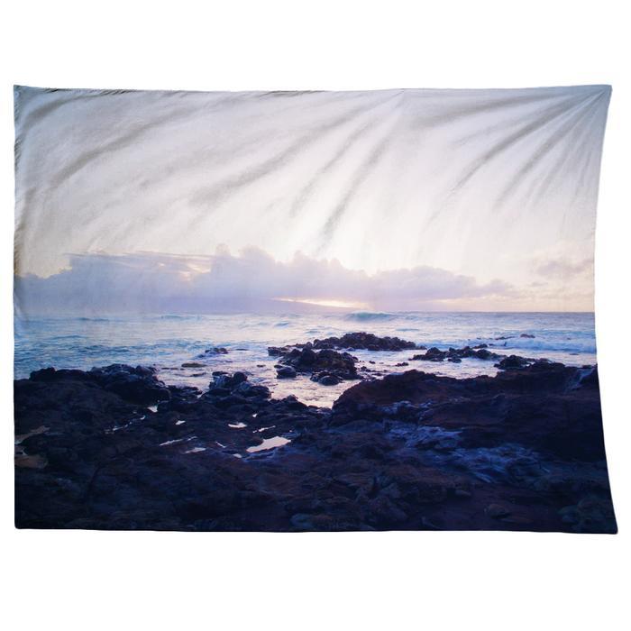 ocean sunset on tapestry