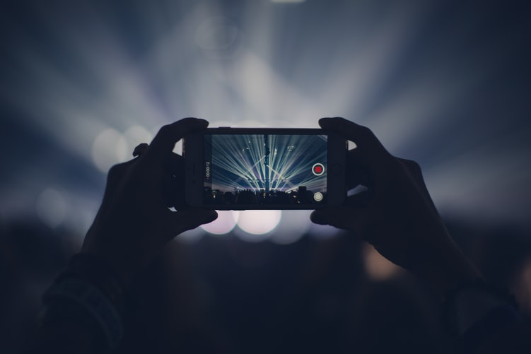 Taking a video at a concert