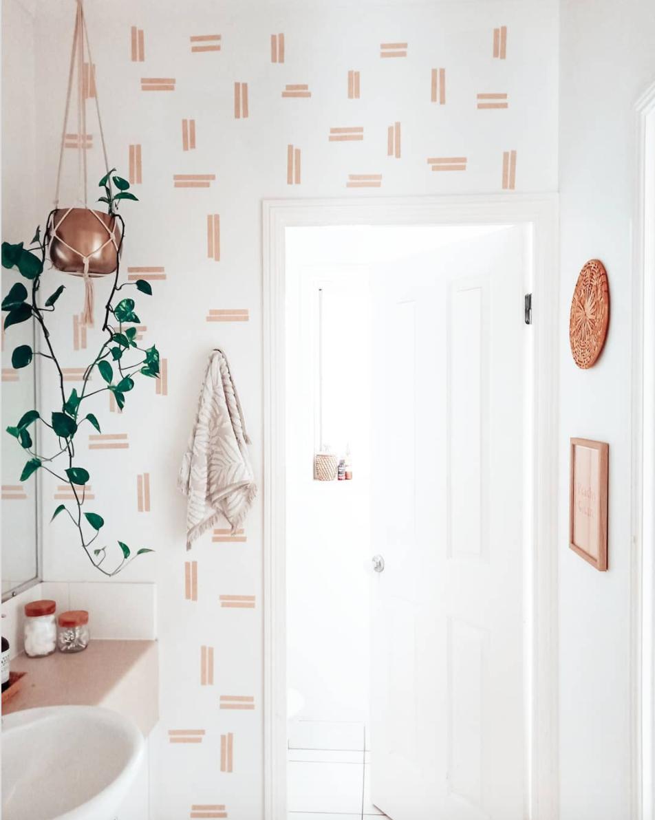 washi tape wall design