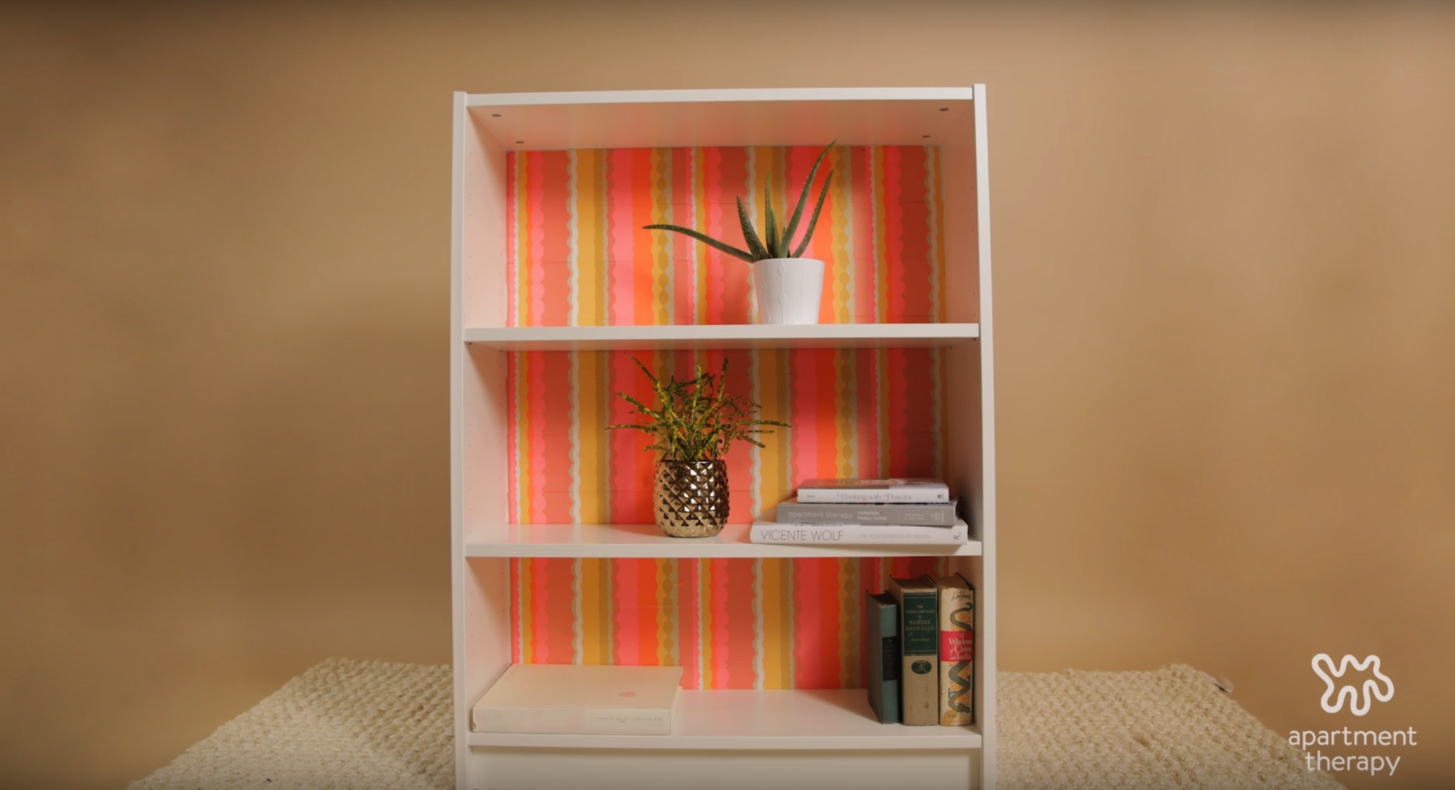 washi tape book shelf