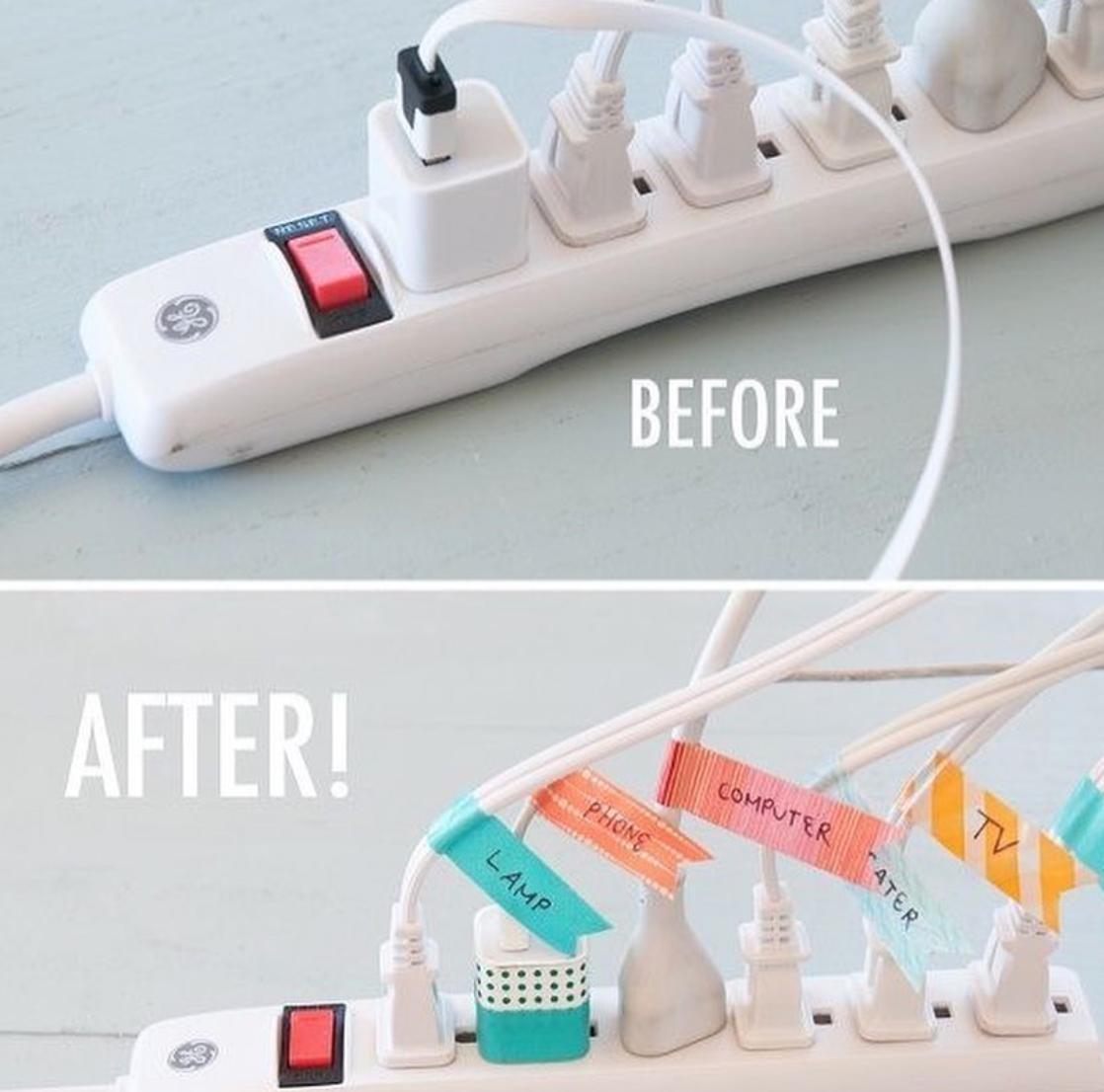 washi tape cords