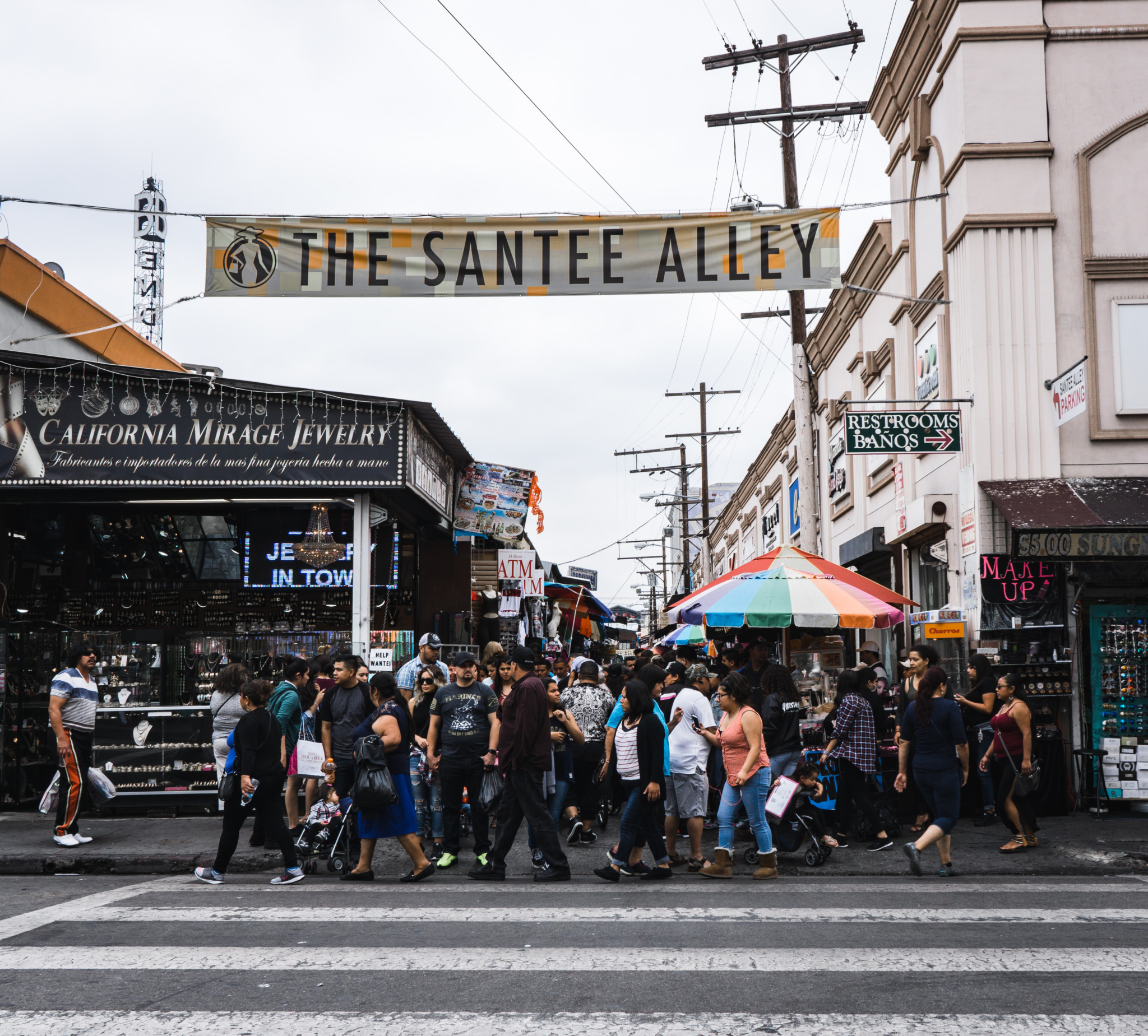 photo of the entrance to The Santee Alley