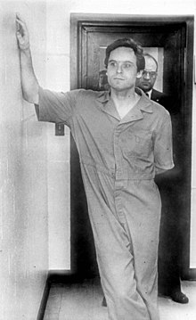 Ted Bundy in a prison uniform