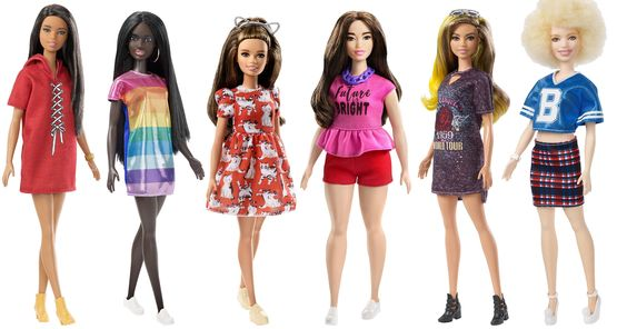 Variety of Barbie dolls