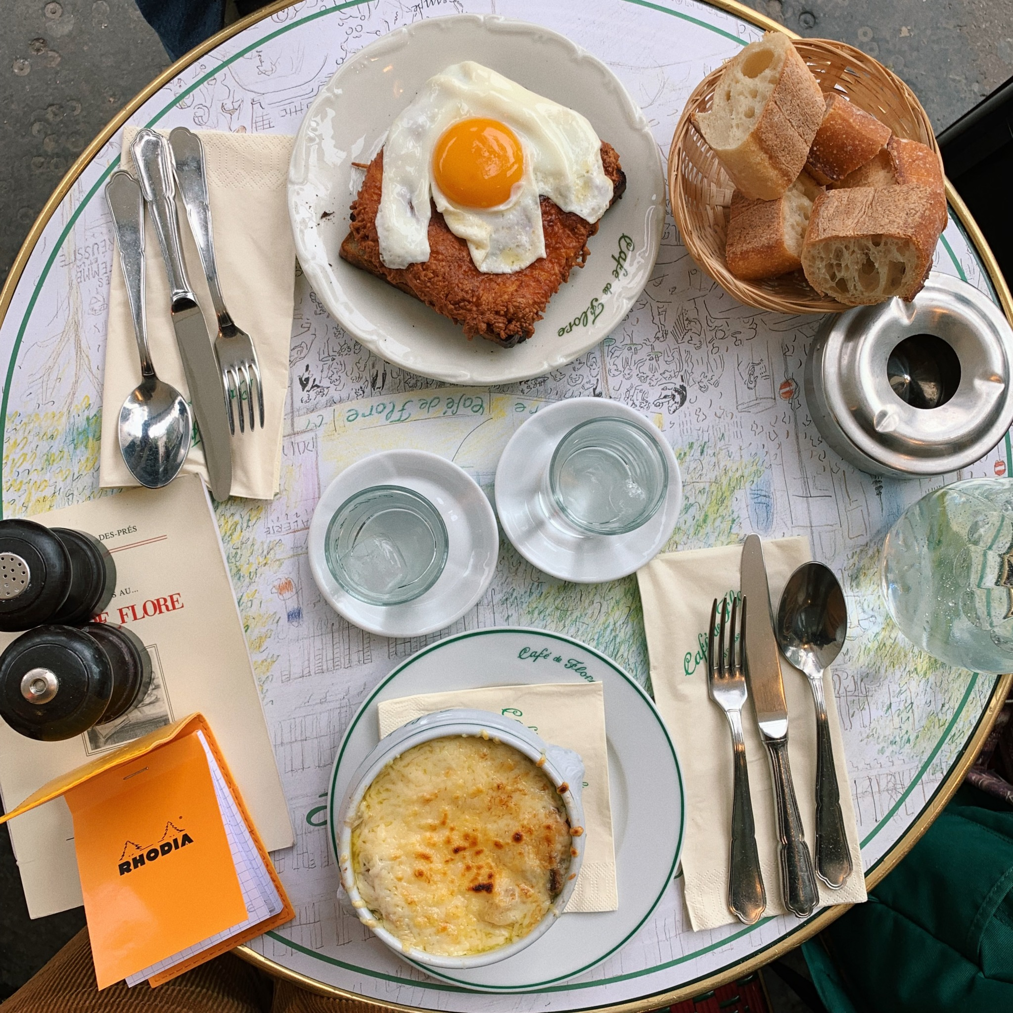 Lunch at Café de Flore