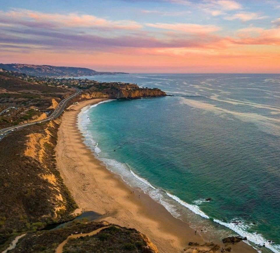 The Laguna beach coastline.
