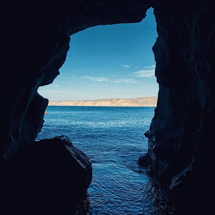 Sunny Jim Sea Cave opening to the water