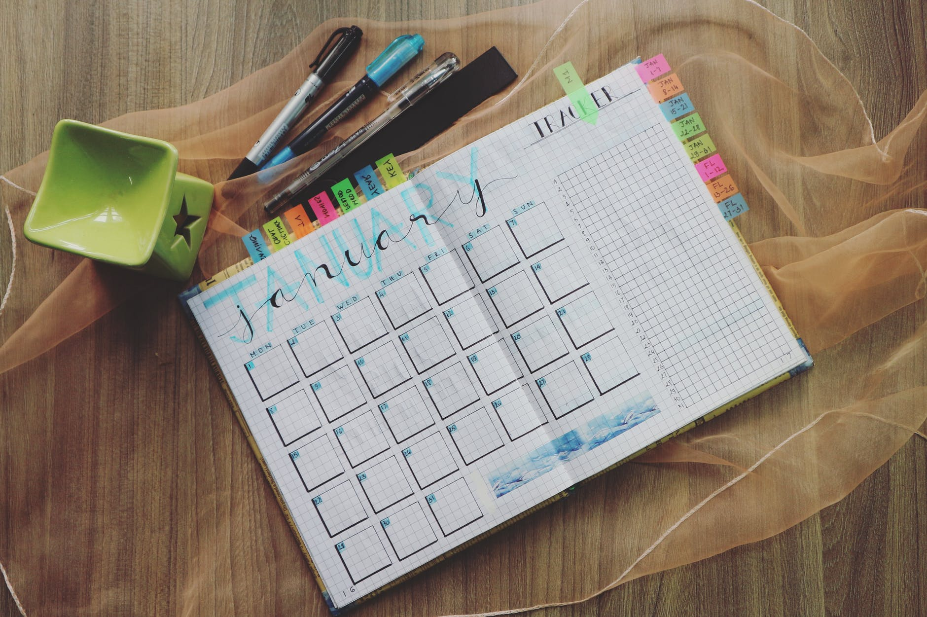 Calendar and markers