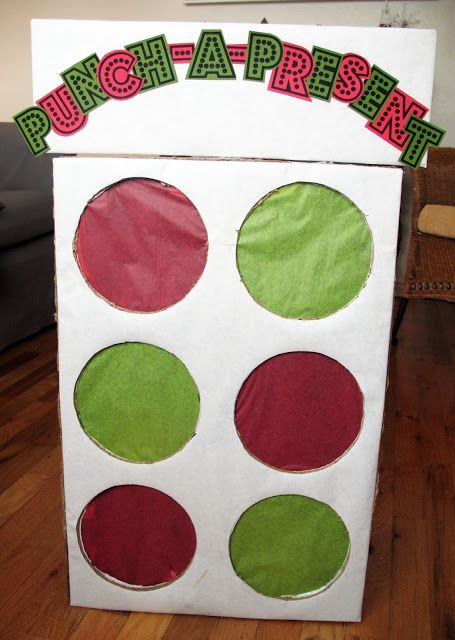 Colorful DIY punch box gifts idea