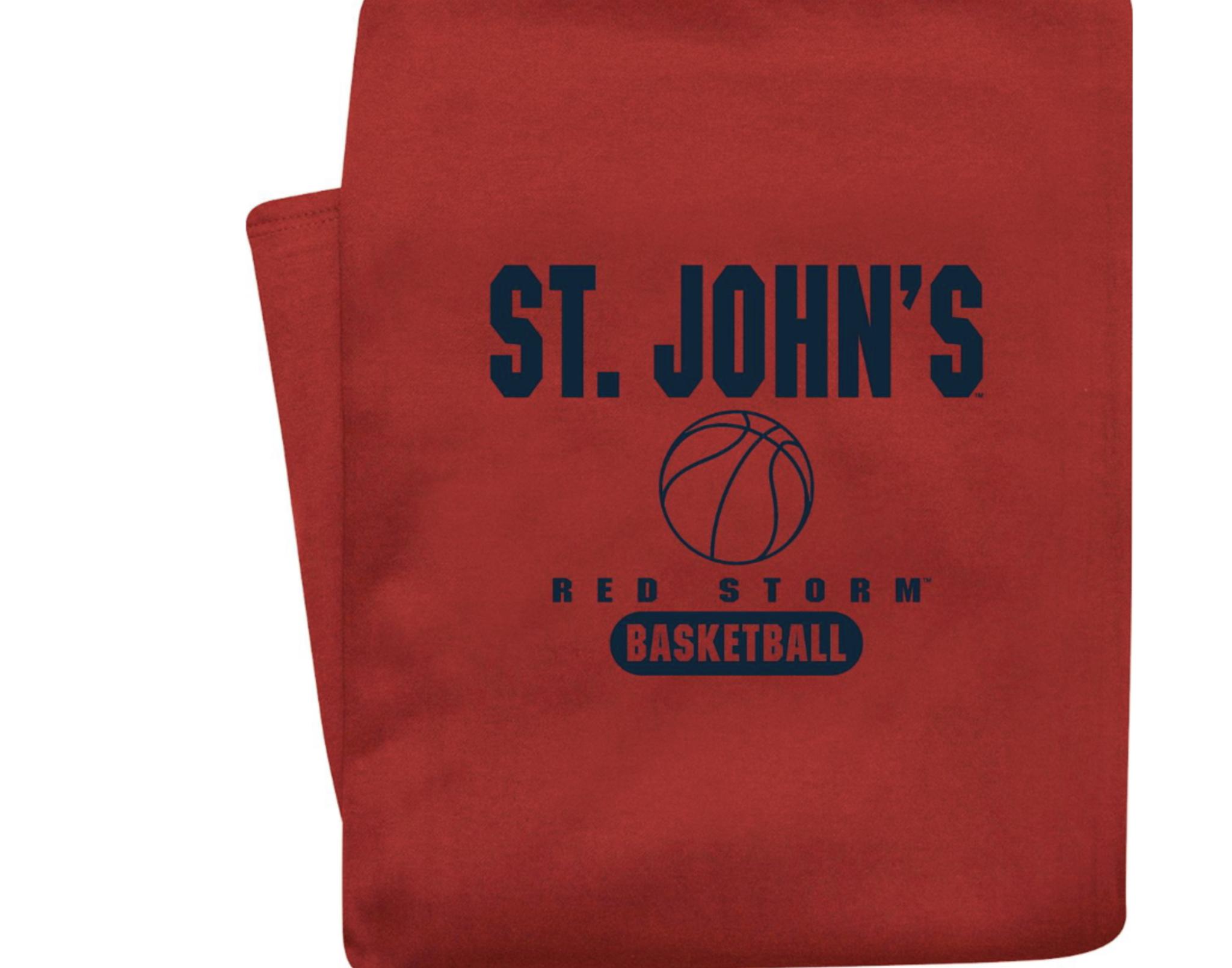 red st johns basketball blanket