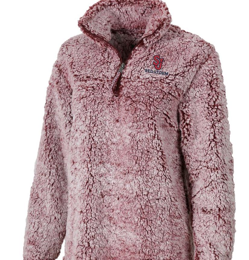 pink sherpa SJU sherpa pullover