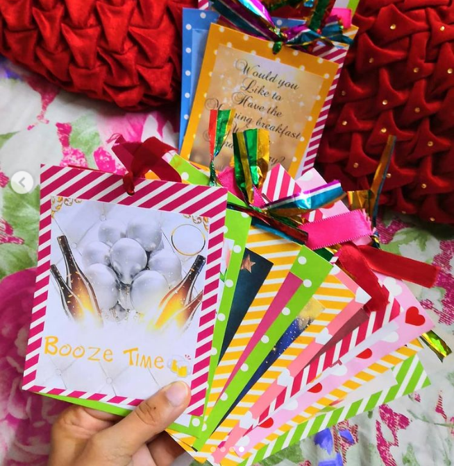 Colorful DIY coupons for you soulmate Christmas gifts idea