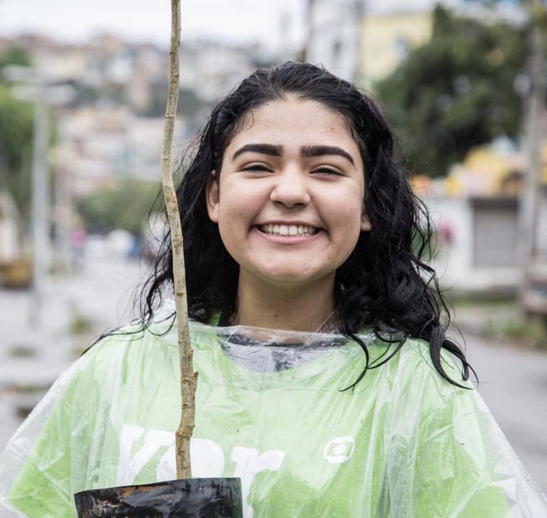 girl smiling w tree