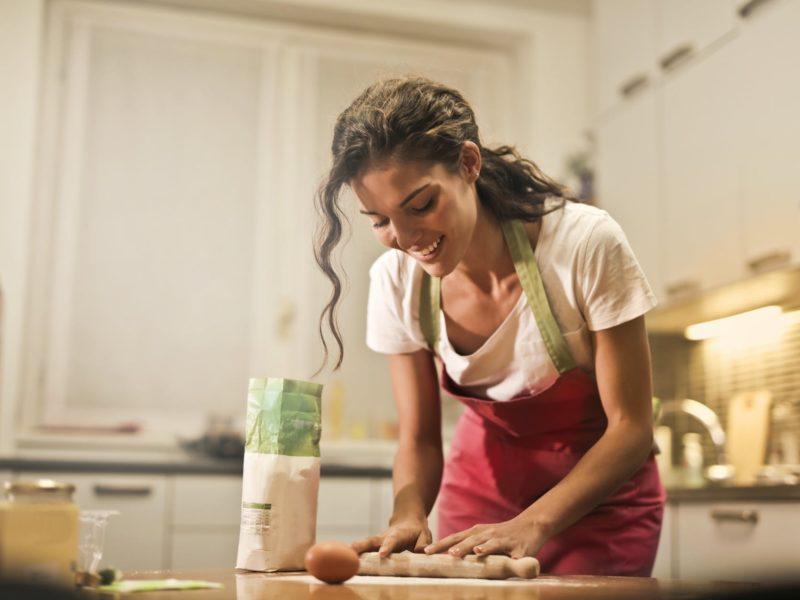 Baking on Valentine's Day