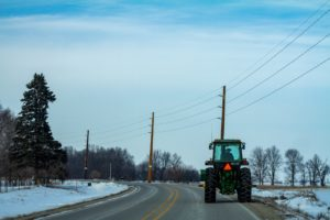 tractor driving